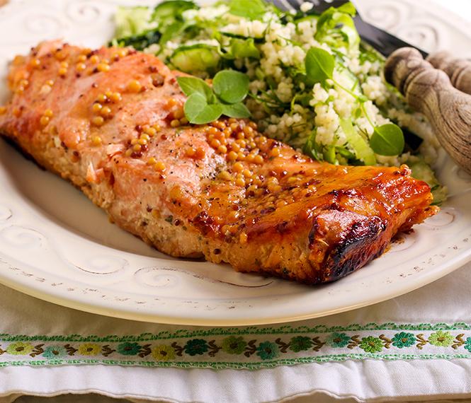 Dijon Mustard Baked Salmon