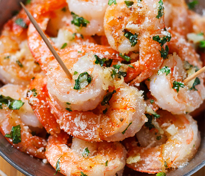 Roasted Garlic Parmesan Shrimp