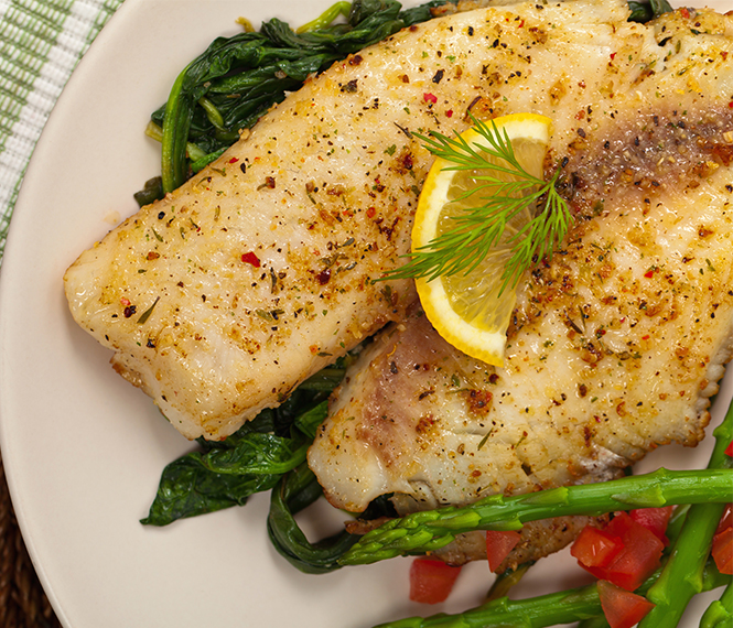 Simple Seasoned Baked Fish Fillet