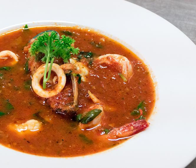 Shrimp & Calamari Soup